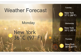 weather forecast digital signage